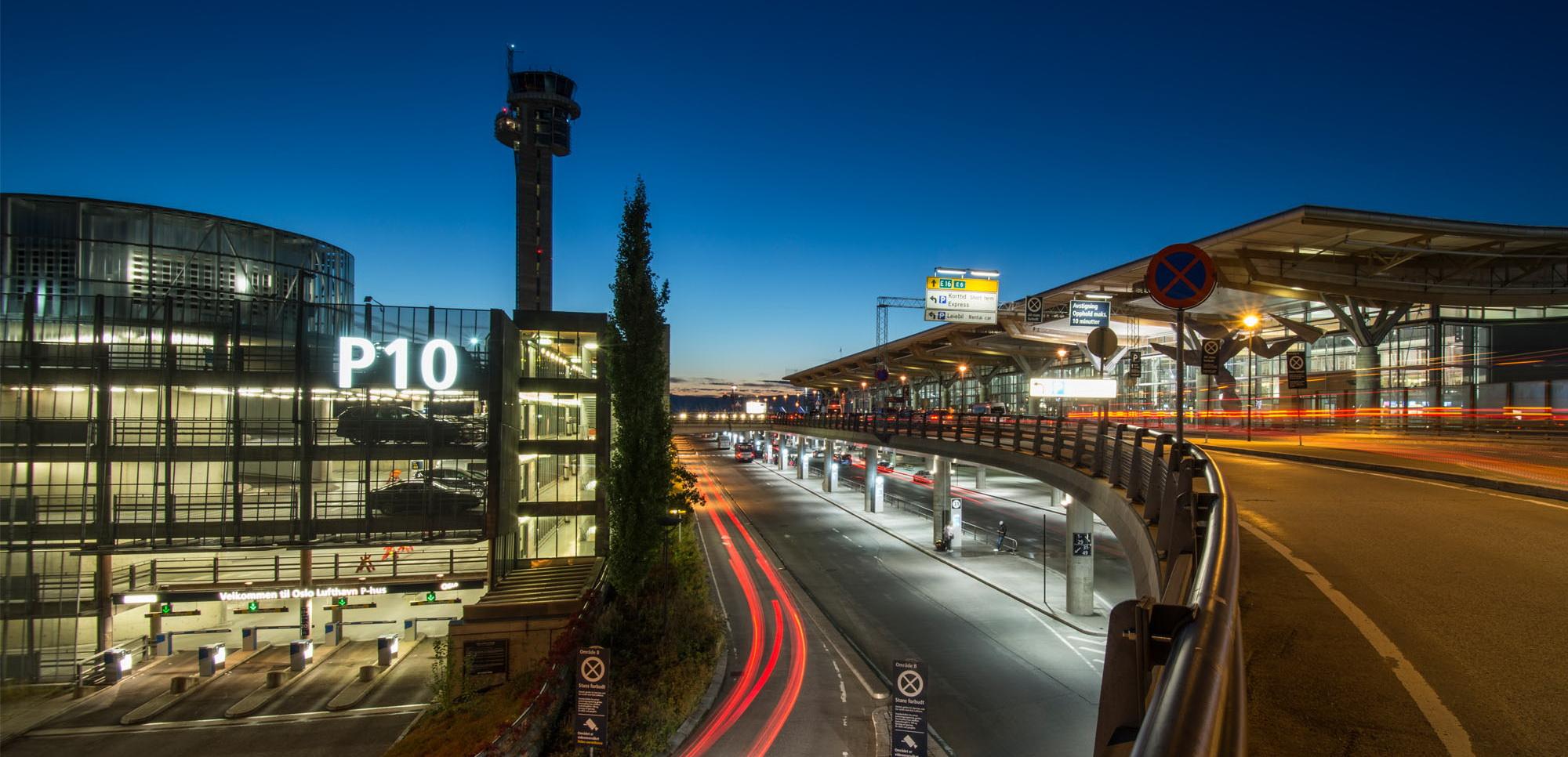 Flyplassparkering på Oslo lufthavn Gardermoen