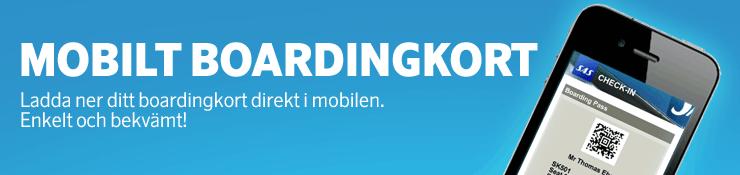 Sjekk inn med Mobilt Boardingkort